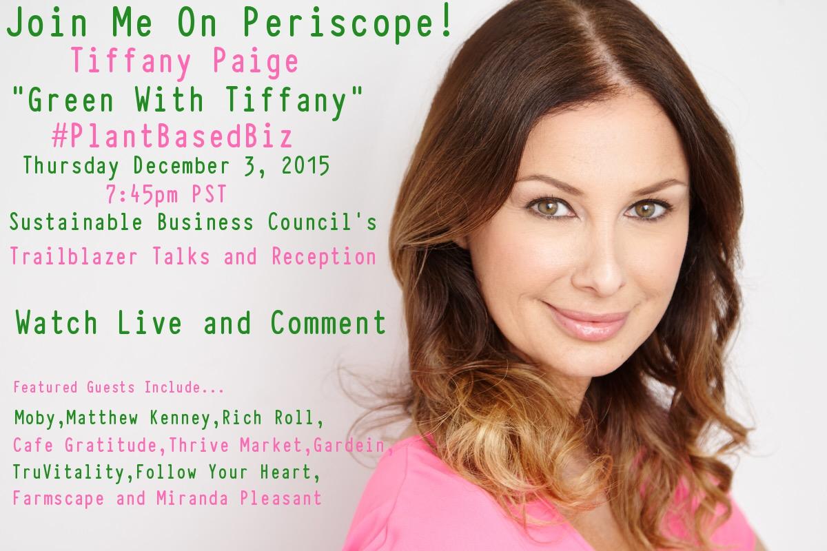 Watch #PlantBasedBiz Live with Green With Tiffany